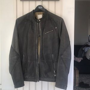 Diesel Café Racer Leather Jacket